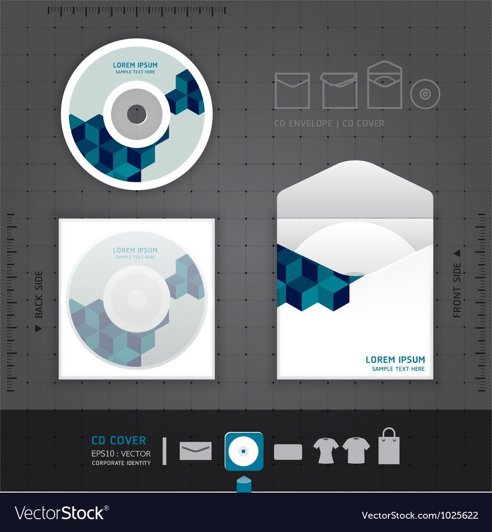 Abstract cd design template vector