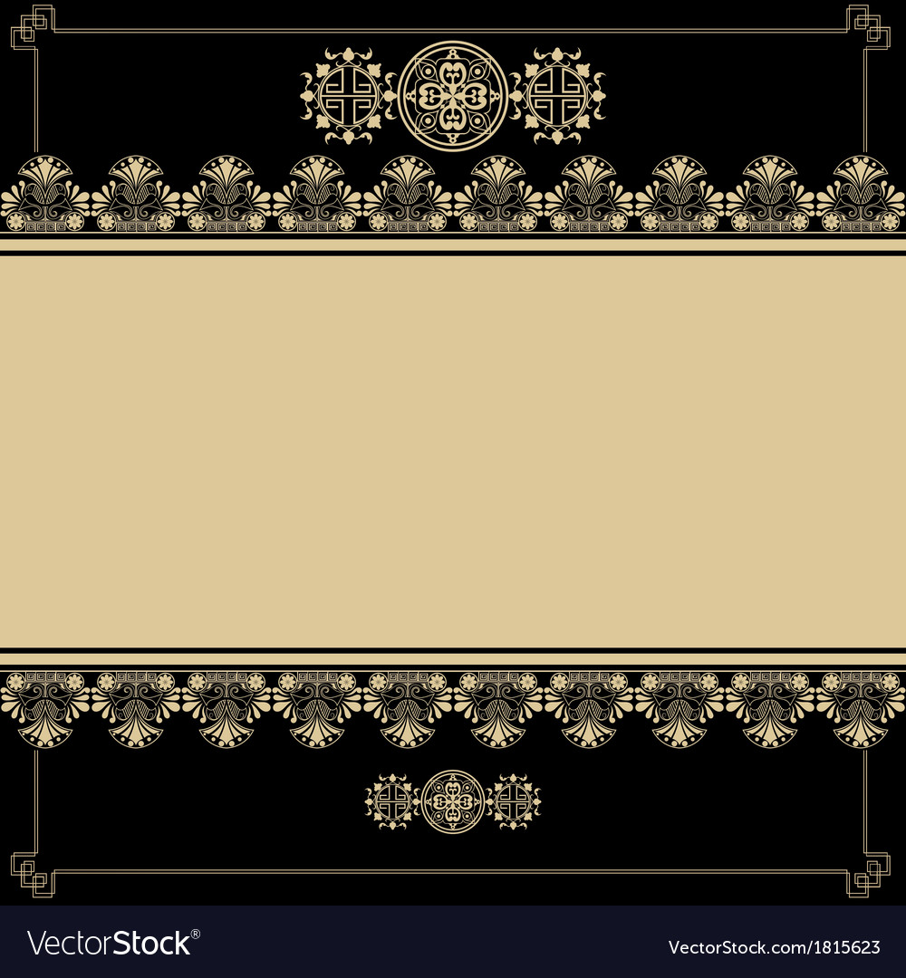 Vintage background with antique design elements vector