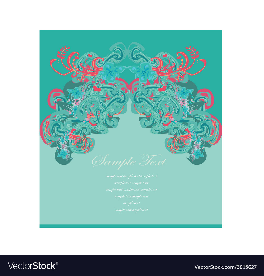 Art for decoration card vector