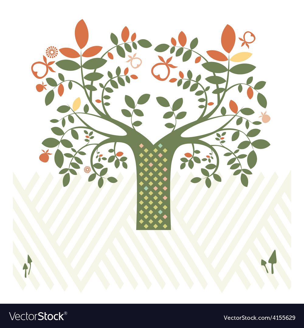 Fantasy design with tree vector
