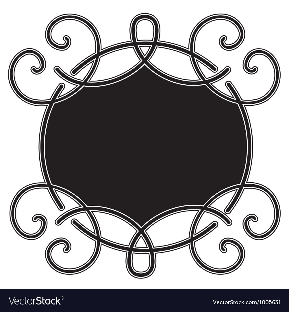 Curves engraving vector