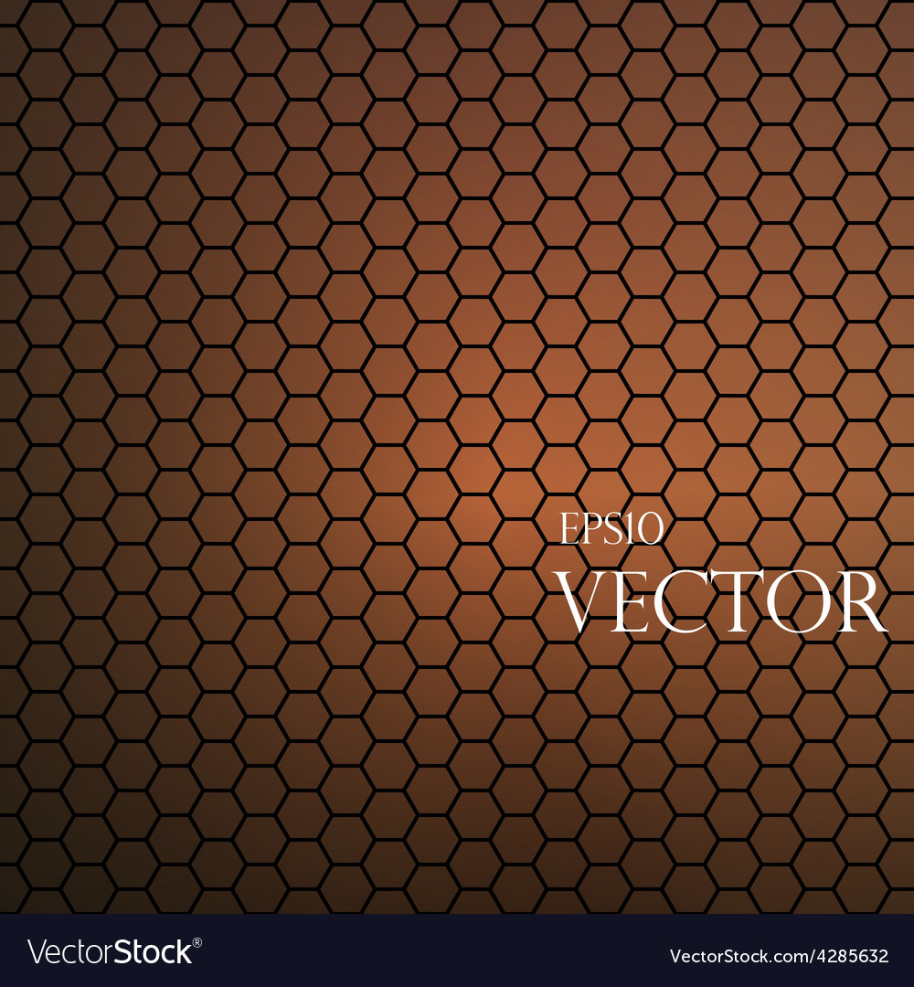 Hexagonal pattern vector