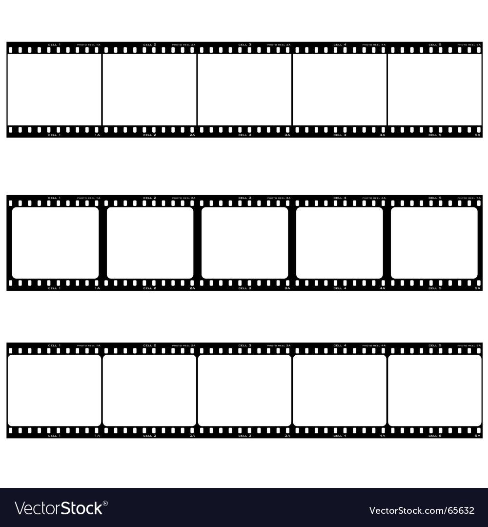 Photo film strip vector
