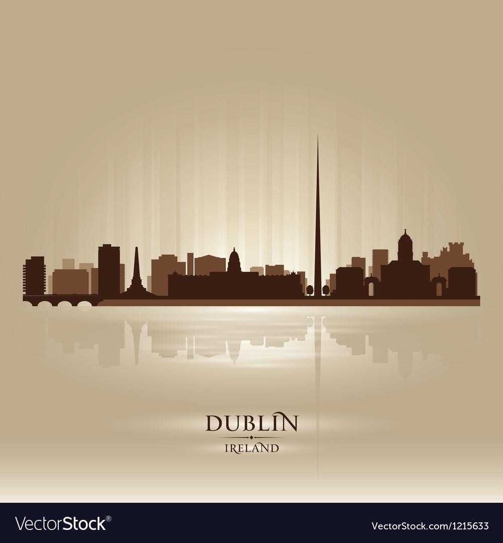 Dublin ireland skyline city silhouette vector