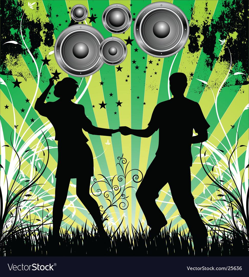 Dance grunge background vector