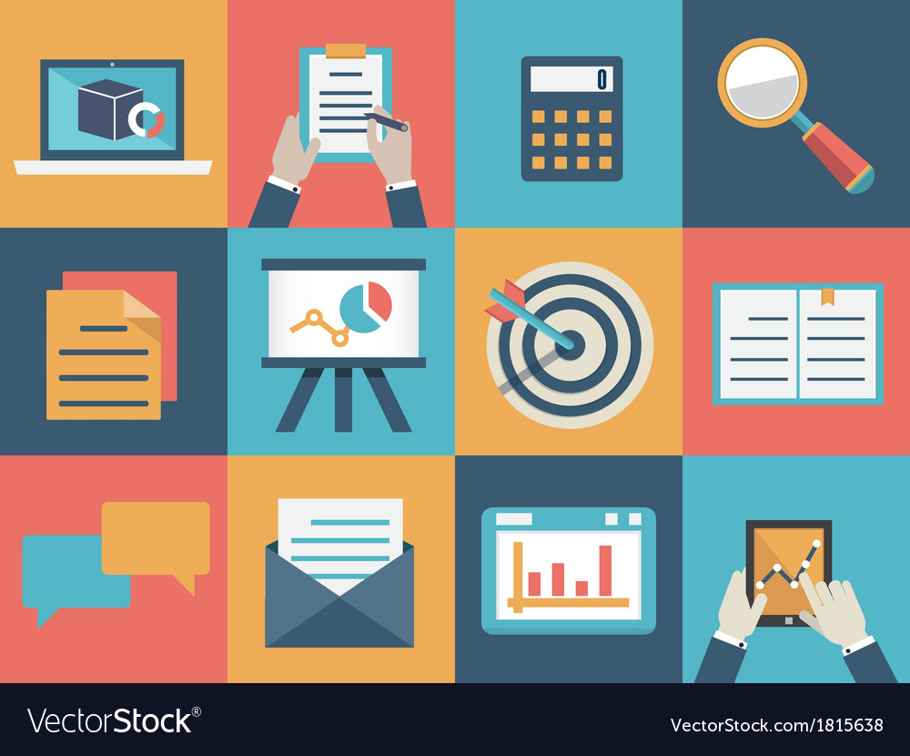 Concept of analysis and market research vector