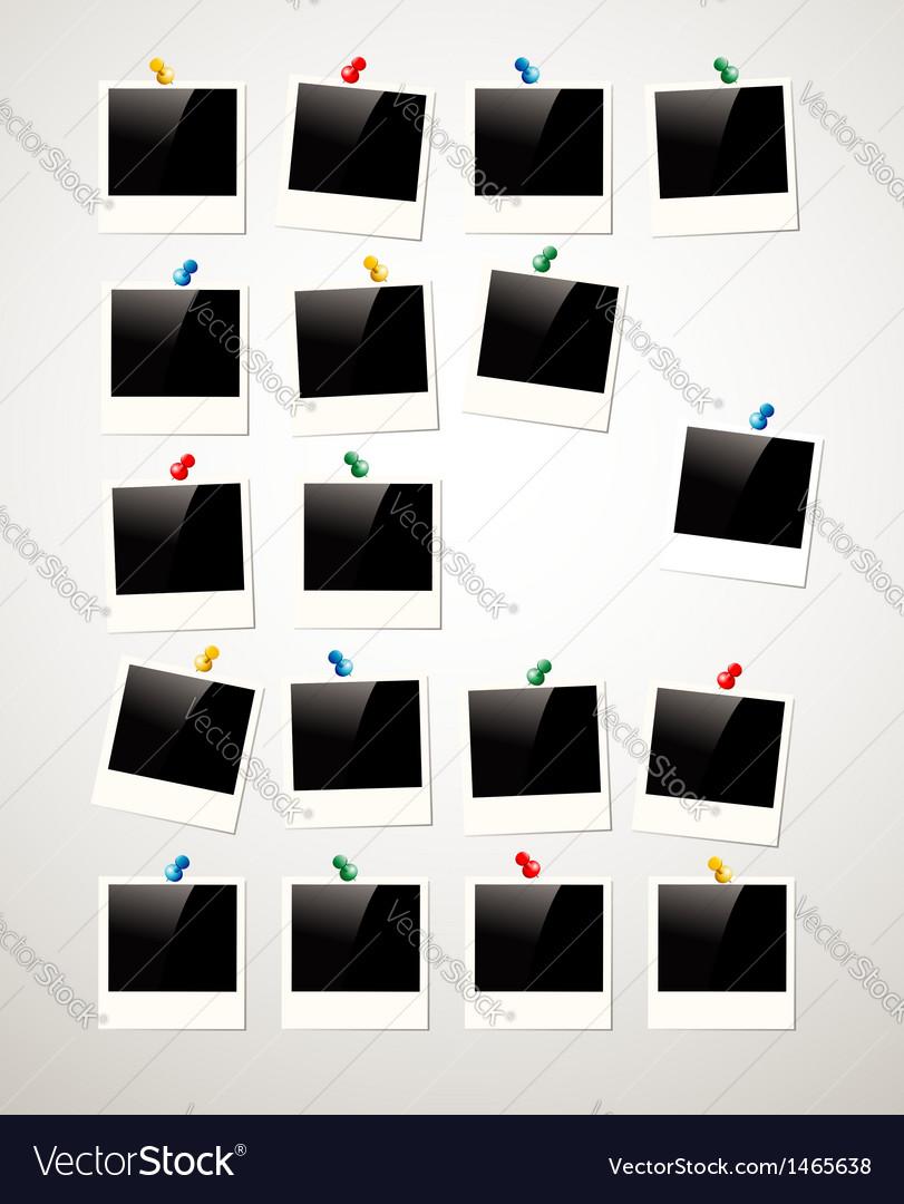 Polaroid photo frame background vector