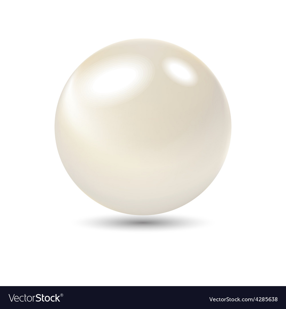 Very realistic shiny pearl gradient mesh used vector
