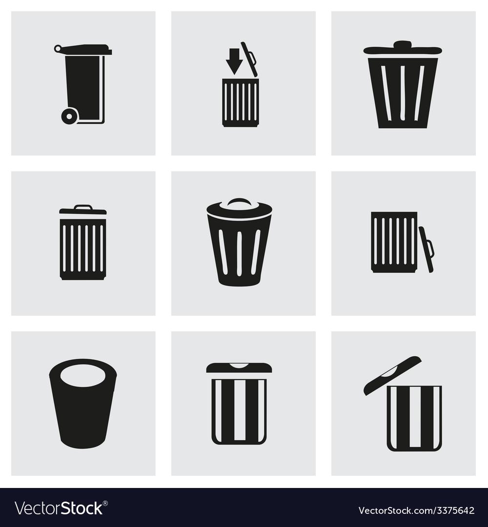 Trash icon set vector