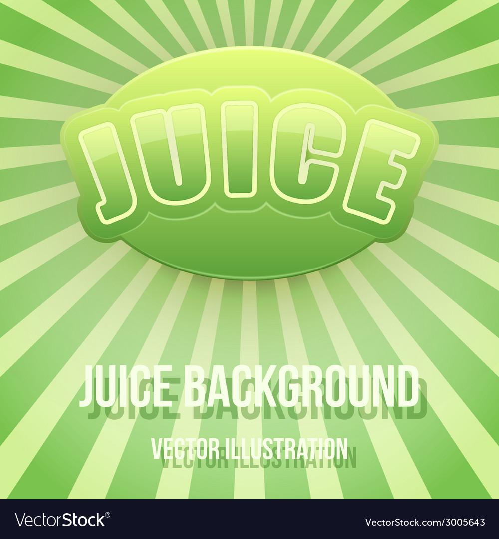 Background of label for apple juice bright premium vector
