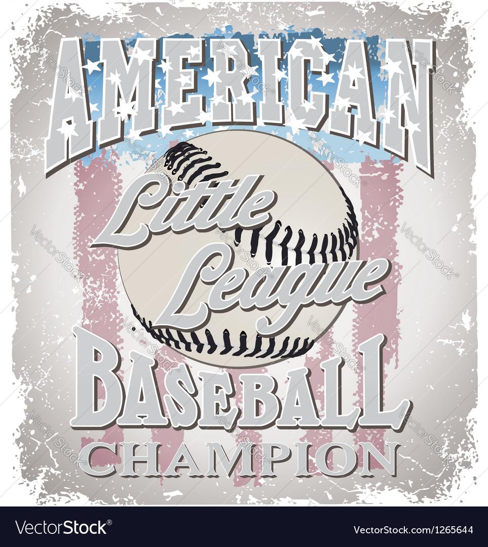 Baseball little league vector