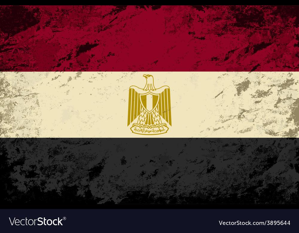 Egyptian flag grunge background vector
