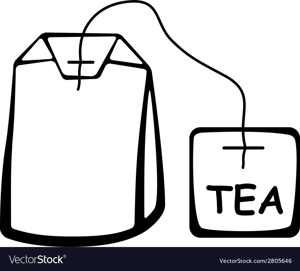Tea bag black pictogram vector