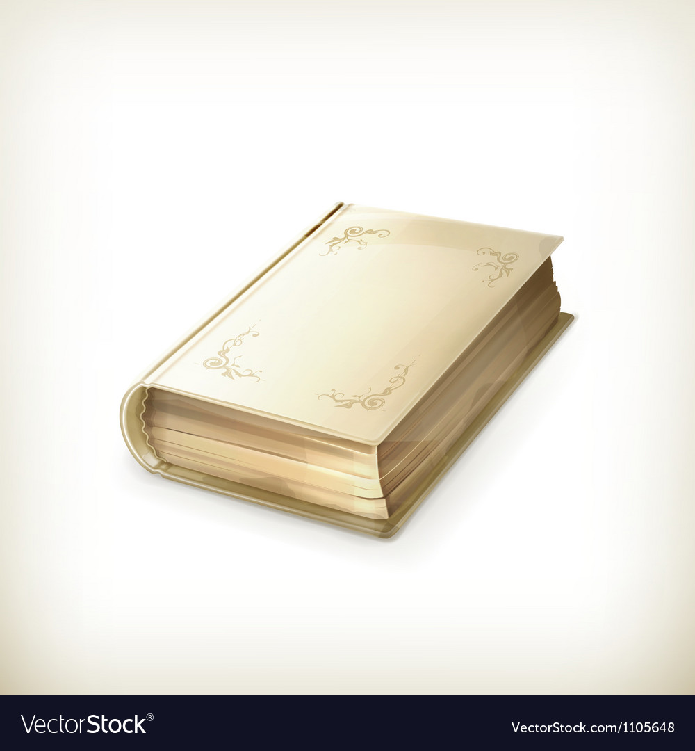 Old book icon vector