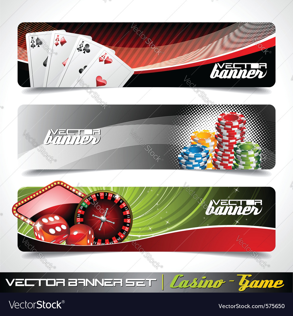 Banner set on a casino theme vector
