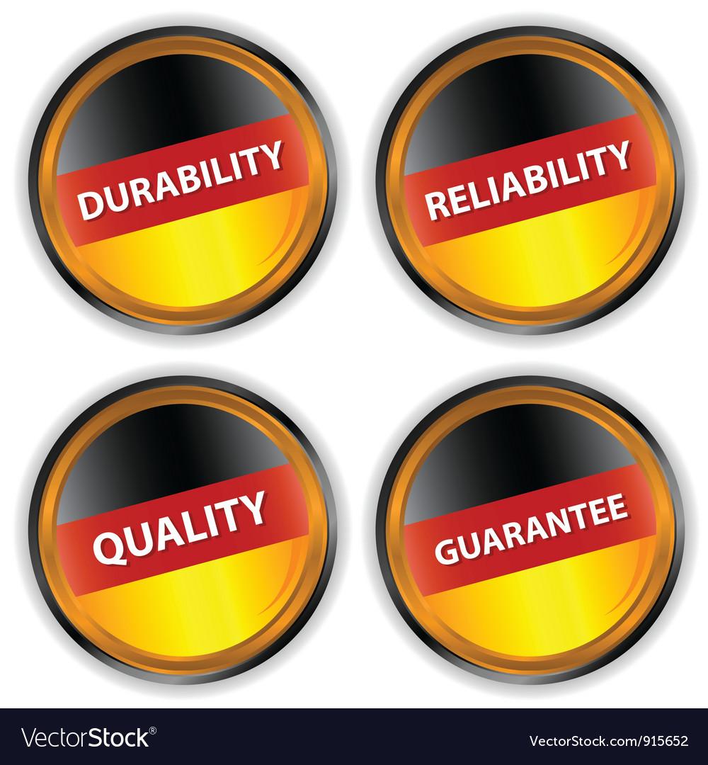 Four german labels vector