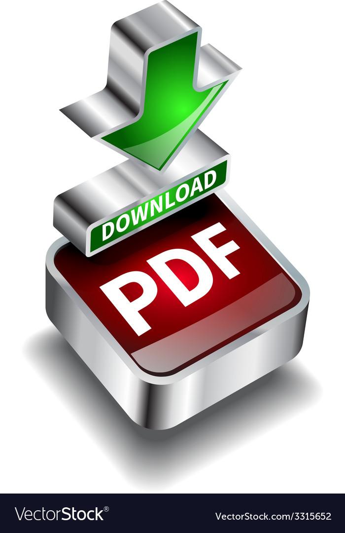 Pdf download icon button internet document vector