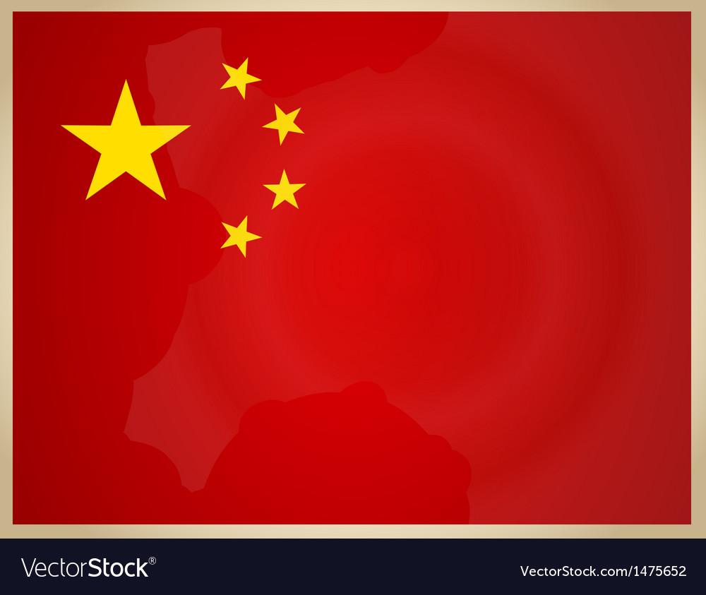 Vintage china flag vector