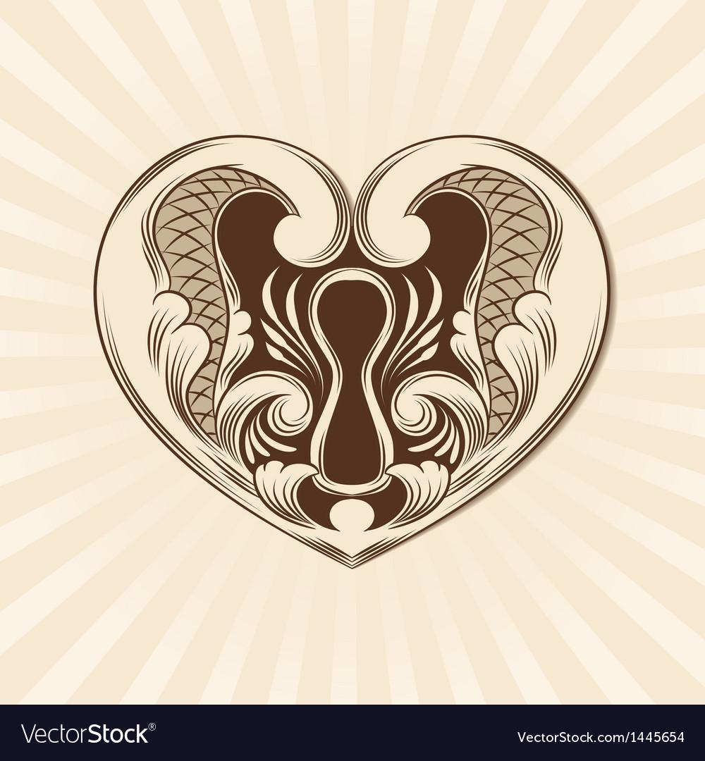 Love ornamental vector
