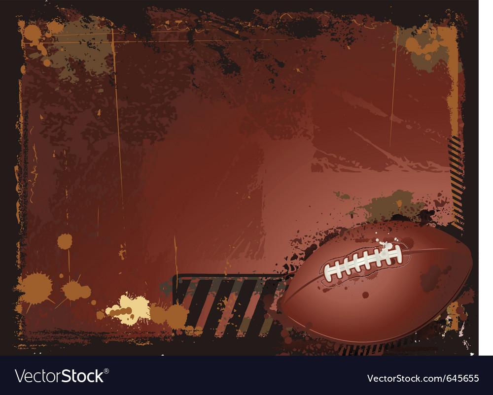 Grunge american football background vector