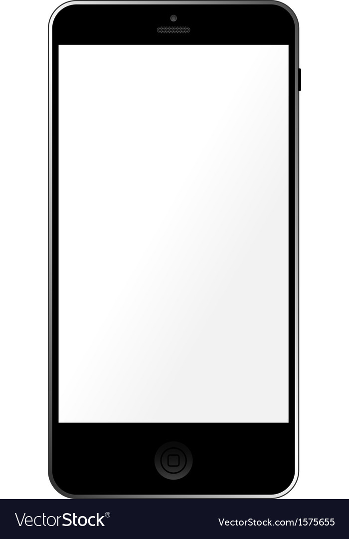 Simple template smartphone with empty touchscreen vector