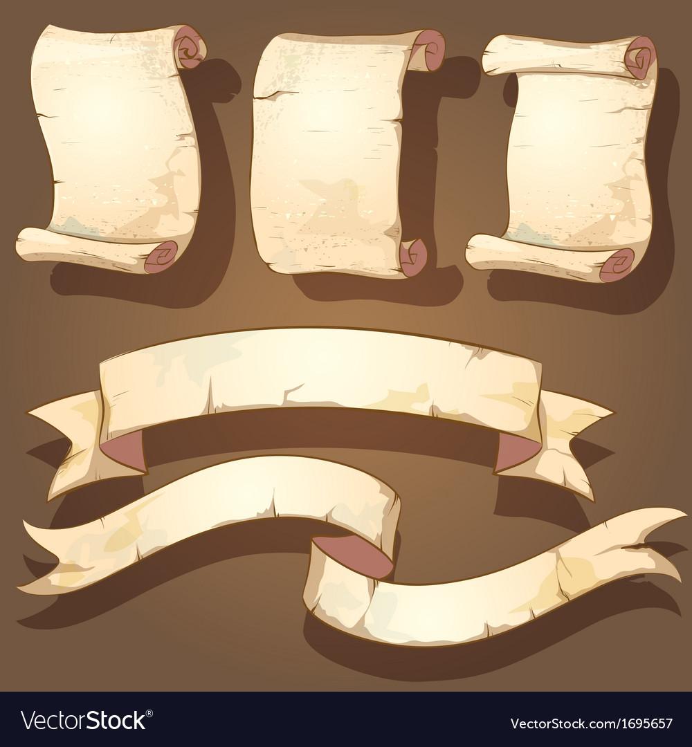 Ancient scrolls vector