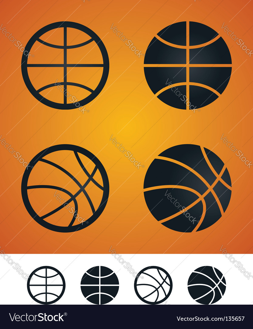 Basketball sign vector