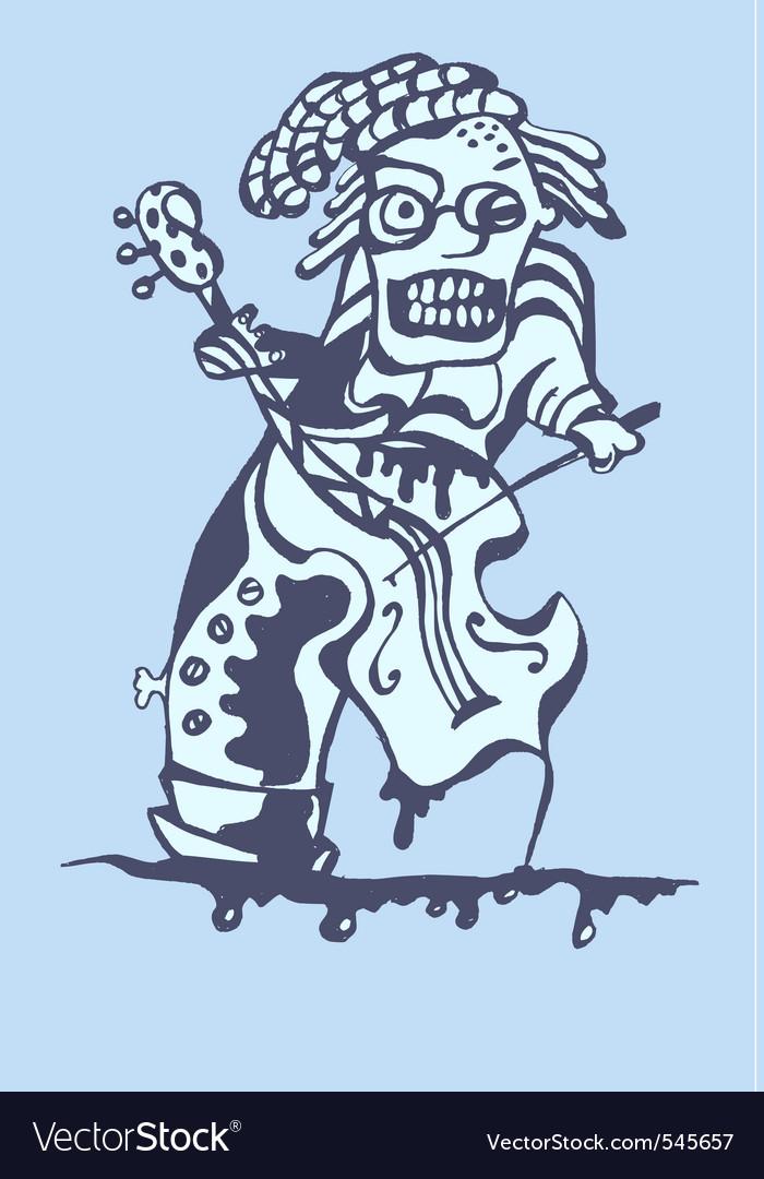 Freak musician vector