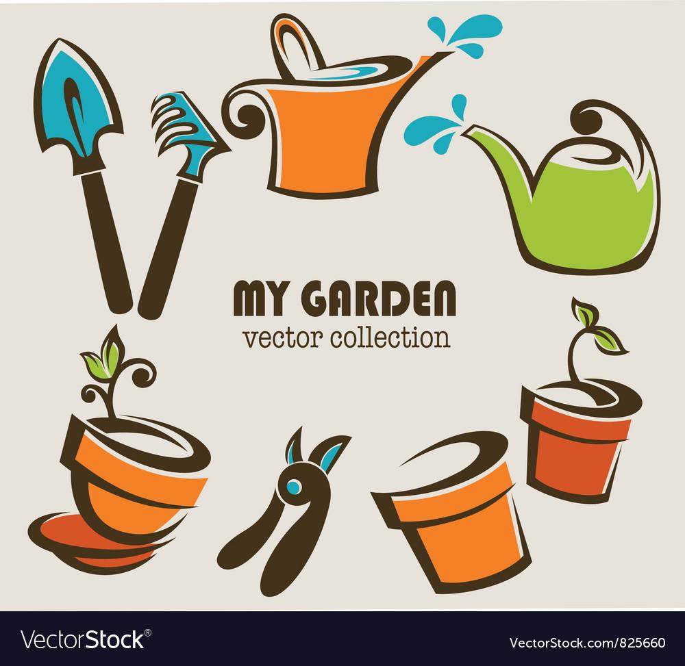 My garden vector