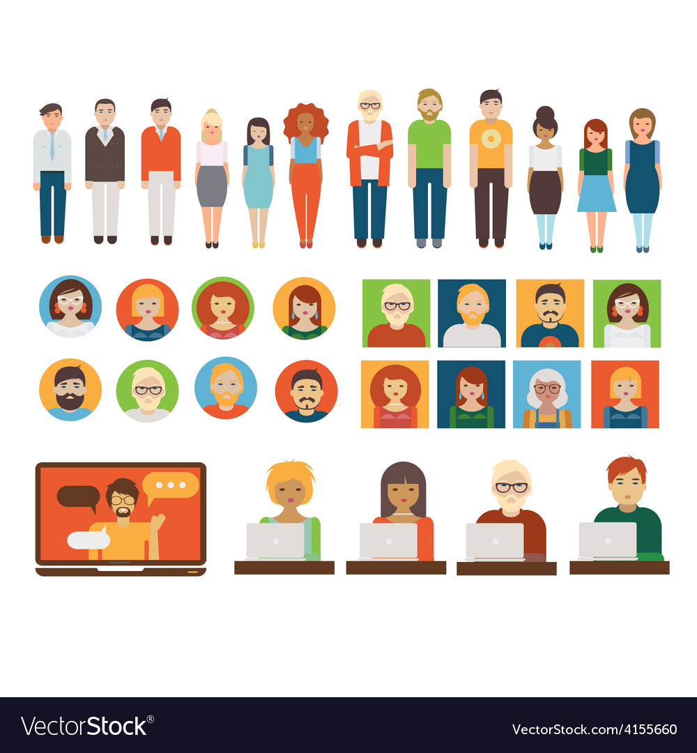 People business characters set vector