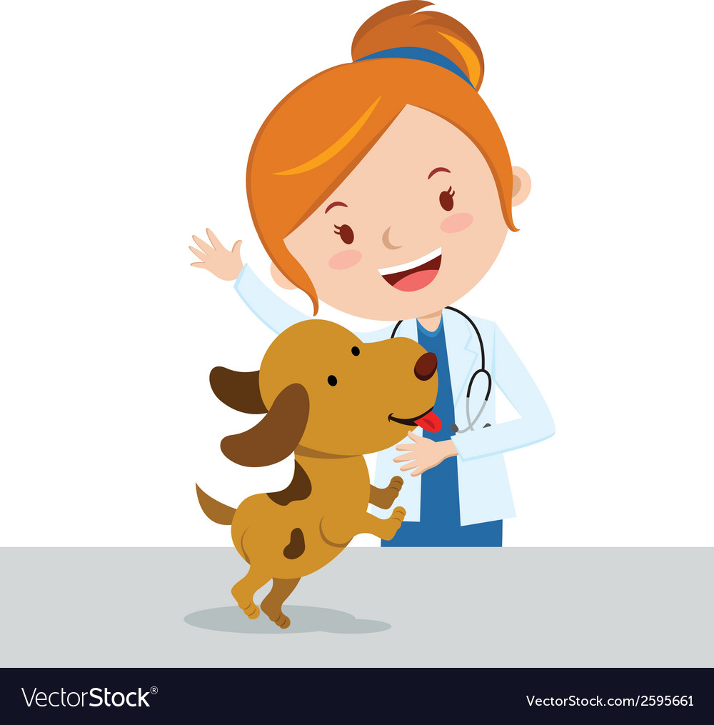Cartoon veterinarian vector