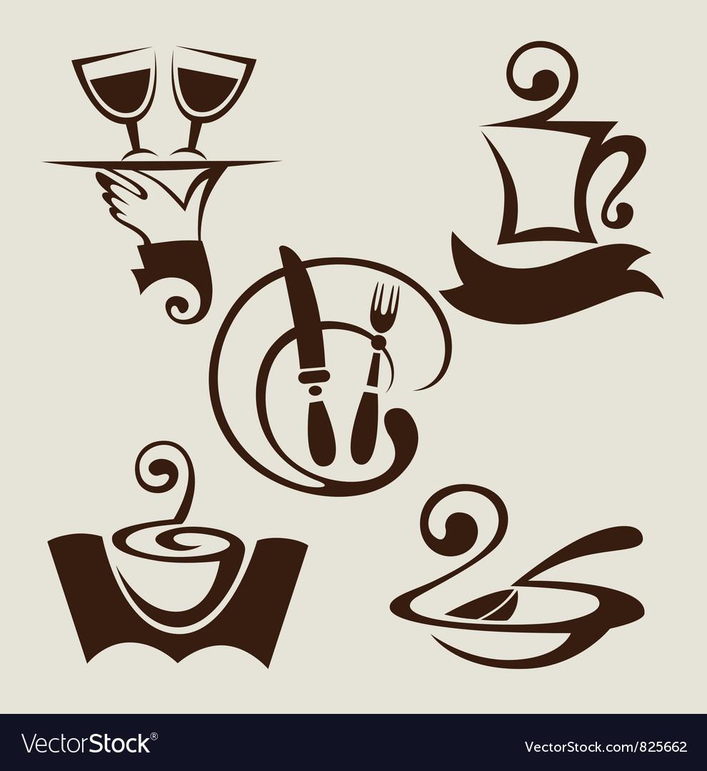 Restaurant menu symbols vector