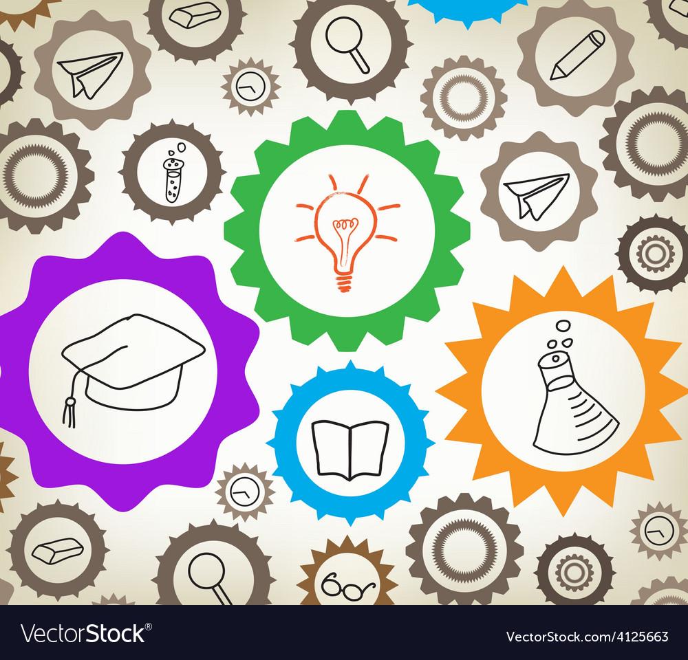 Education mechanism concept background vector