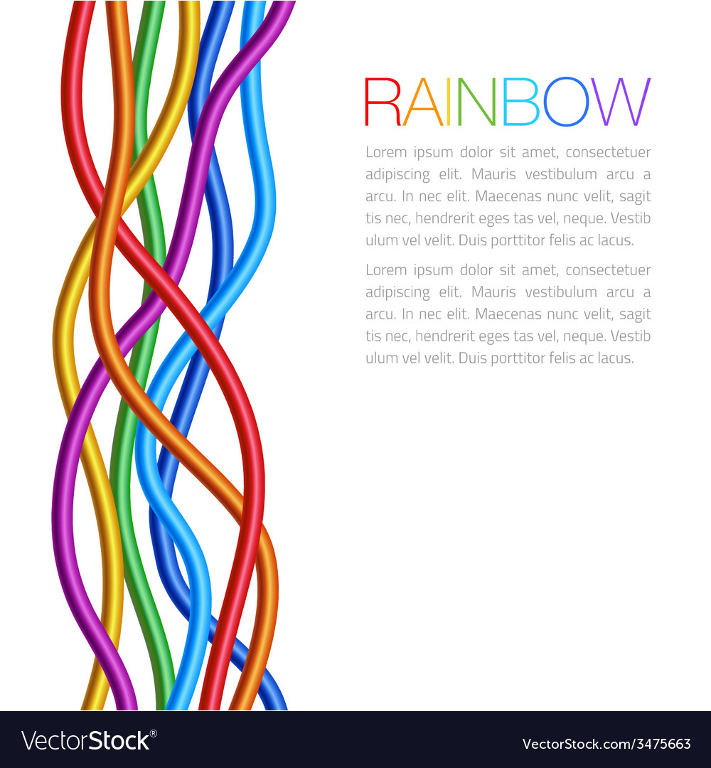 Rainbow twisted bright vibrant wares vector