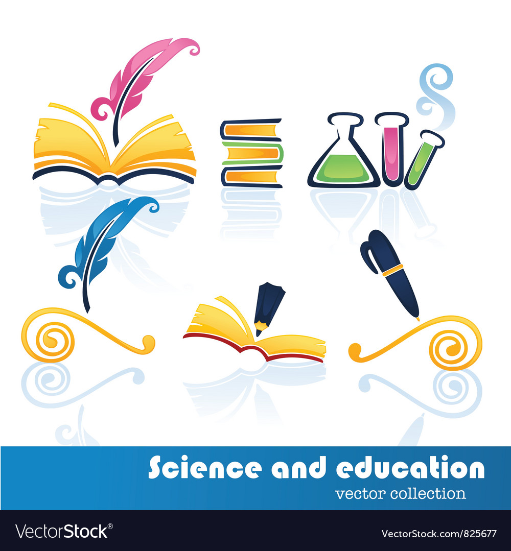 Education and science symbols vector