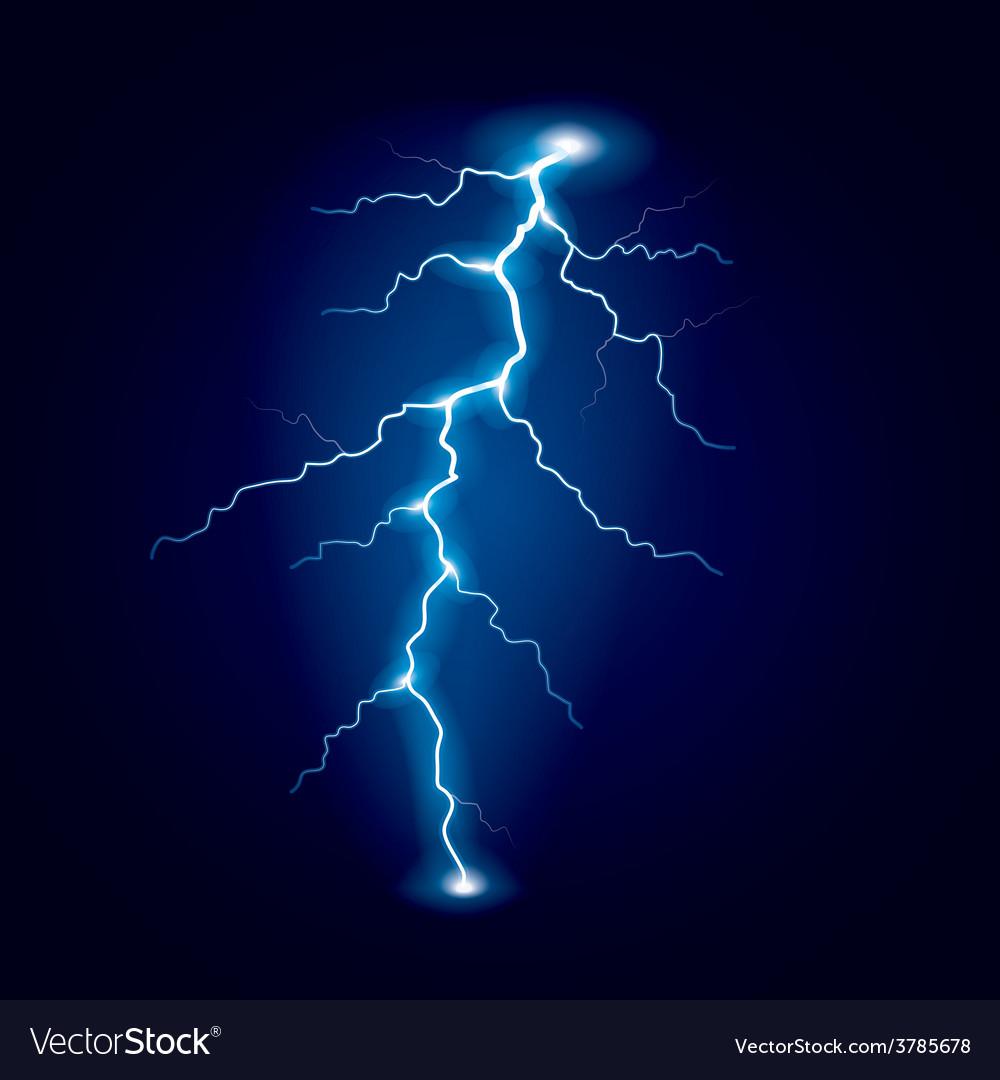 Lightning isolated vector