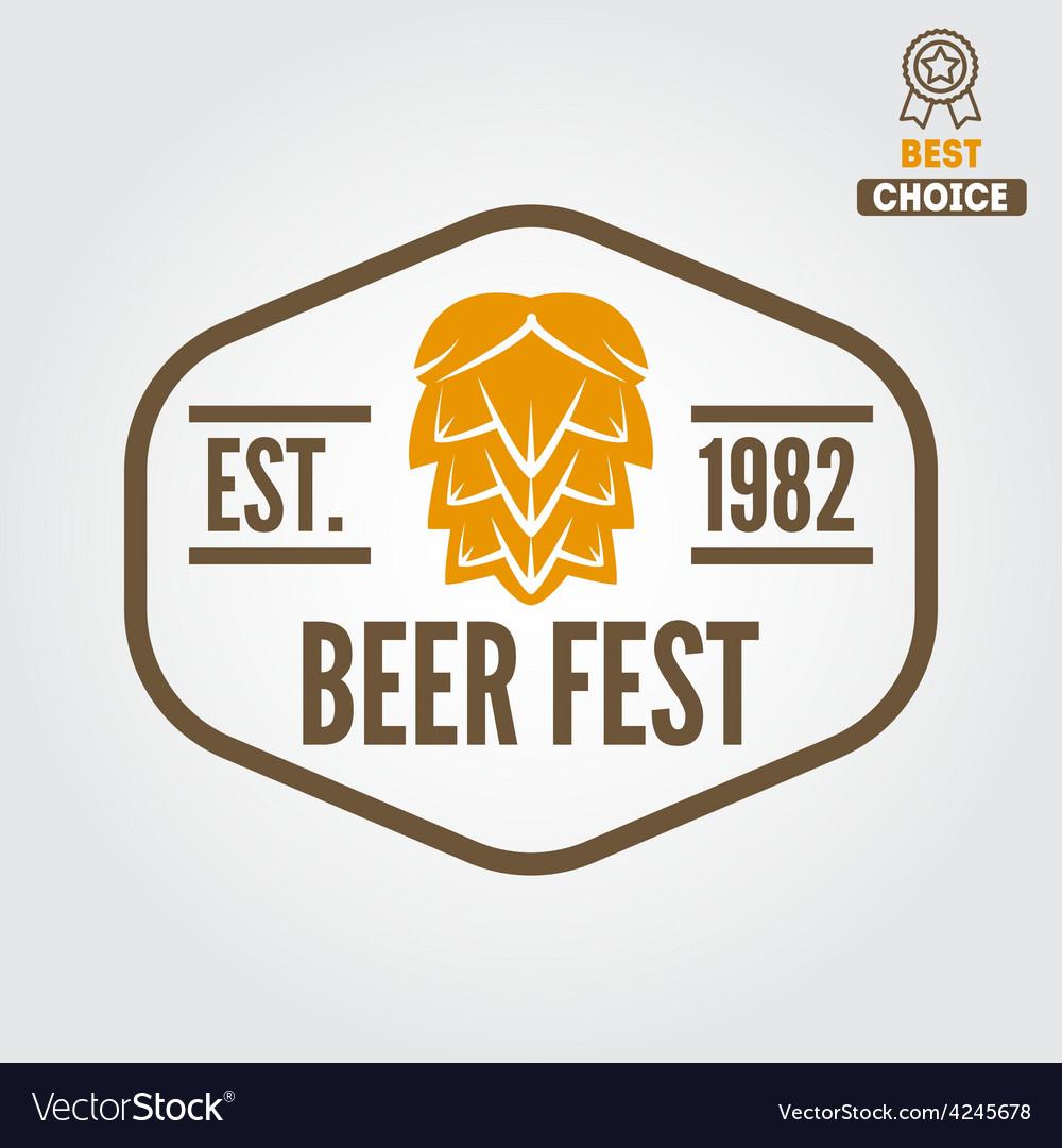 Vintage logo badge emblem or logotype design vector