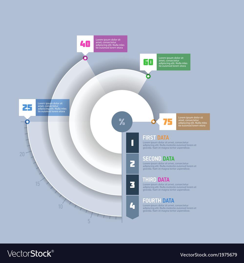 Pie chart circle graph infographics element vector