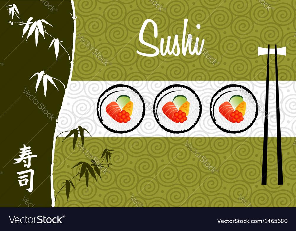 Sushi banner background vector