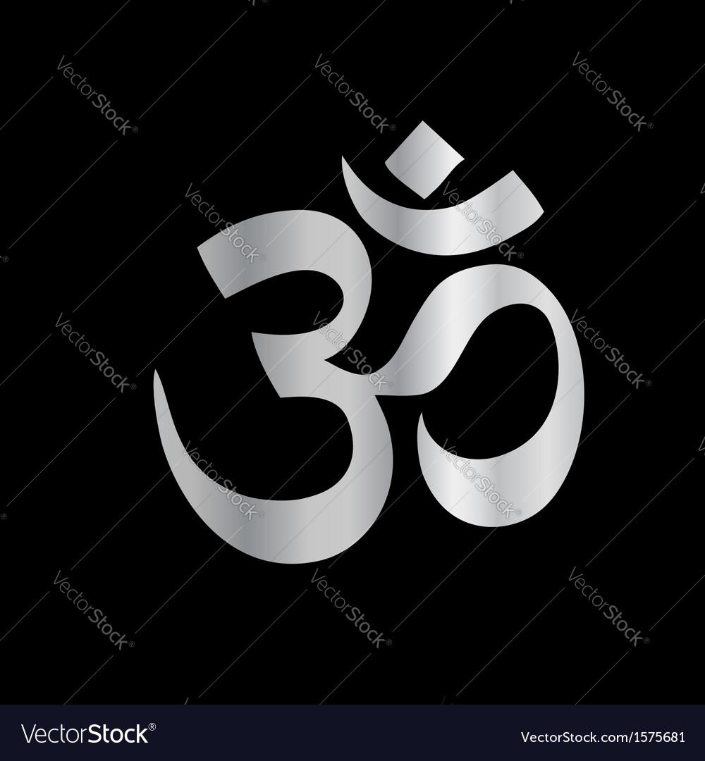 Religious symbol of hinduism- pranava vector