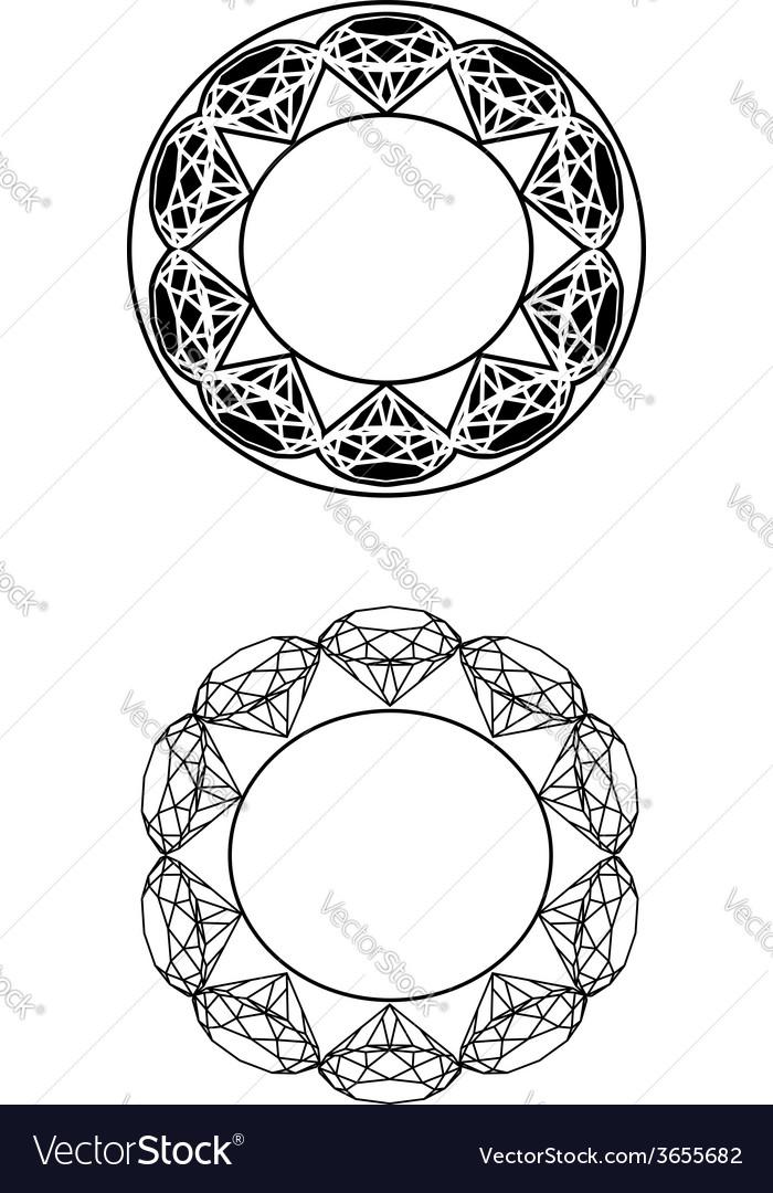 Circle-diamondz-decor vector