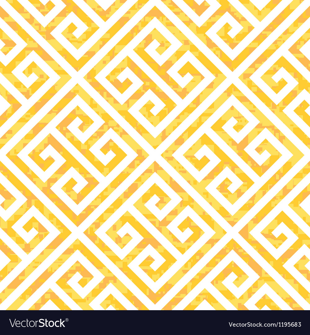 Seamless gold greek key background pattern vector