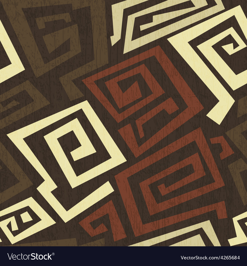 Ancient seamless texture with grunge effect vector