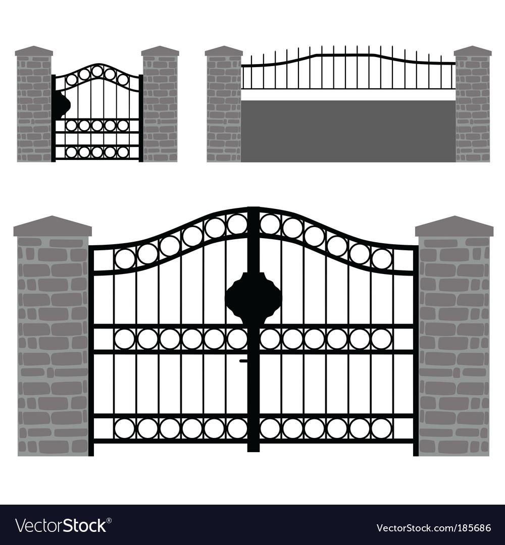 Gate doors vector