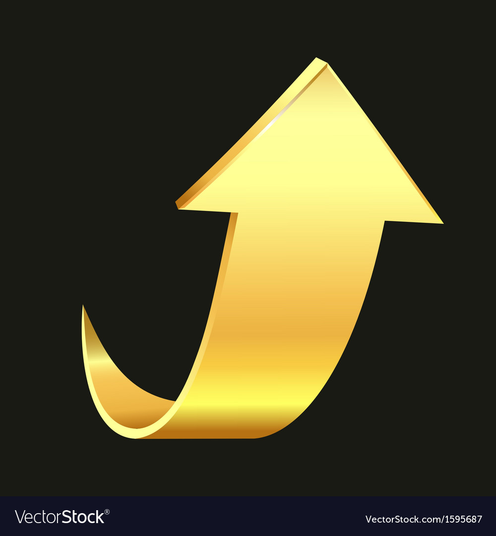 Gold arrow vector