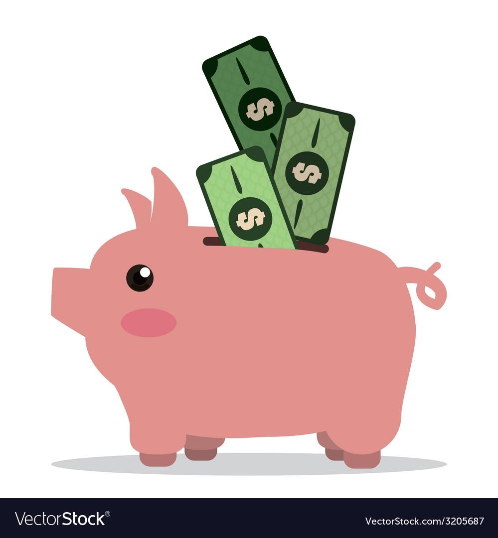 Saving money design vector