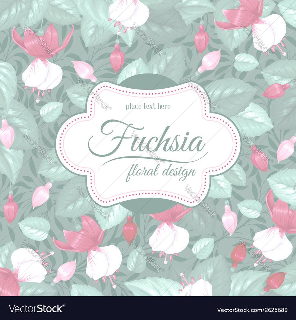 Fuchsia background vector