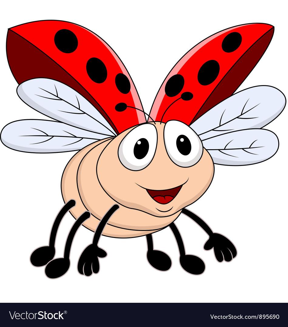 Funny lady bug vector