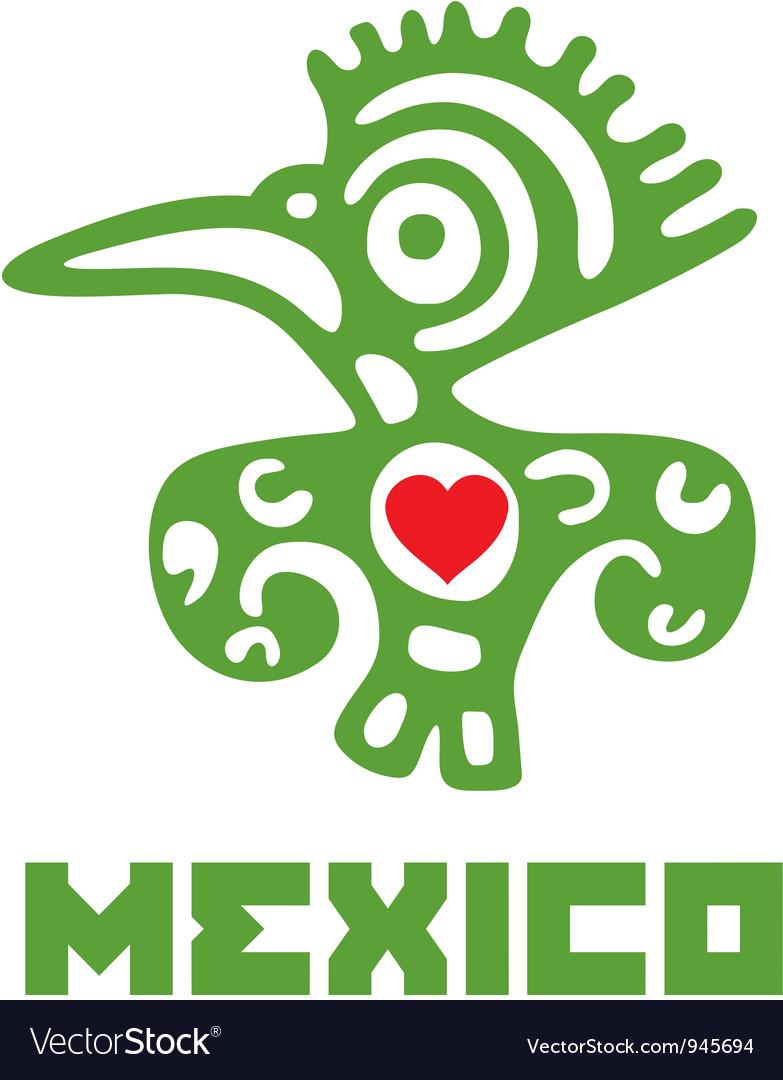 I love mexico template design vector