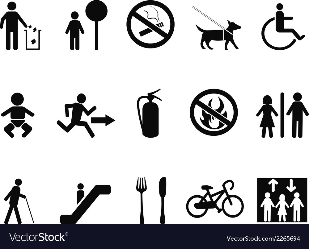International service symbols vector